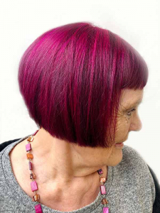 hair cut and colour on mature ladie