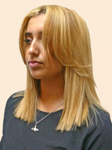 blonde half head highlight offer in salon