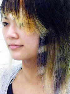 """alt=""""shaggy hair cut animal print colour"""""""