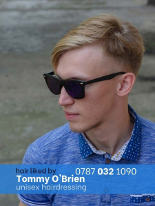 blonde lad with sunglasses